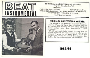 David Rees Beat Instrumental magazine - February 1963 winner