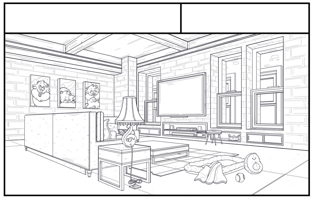 Secret Life of Pets- Living Room