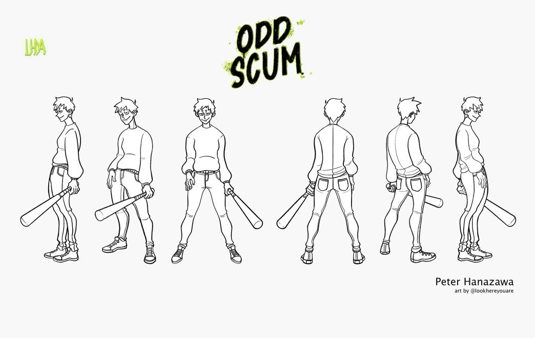 Odd Scum- Peter Character Turn-Around co