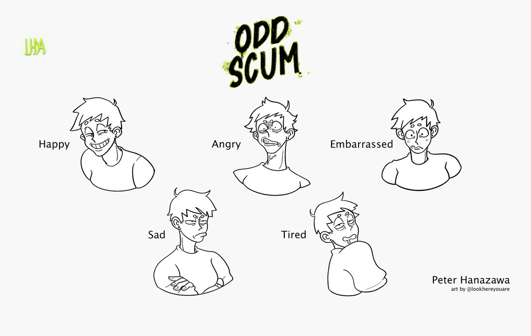 Odd Scum- Peter Character Expressions.jp