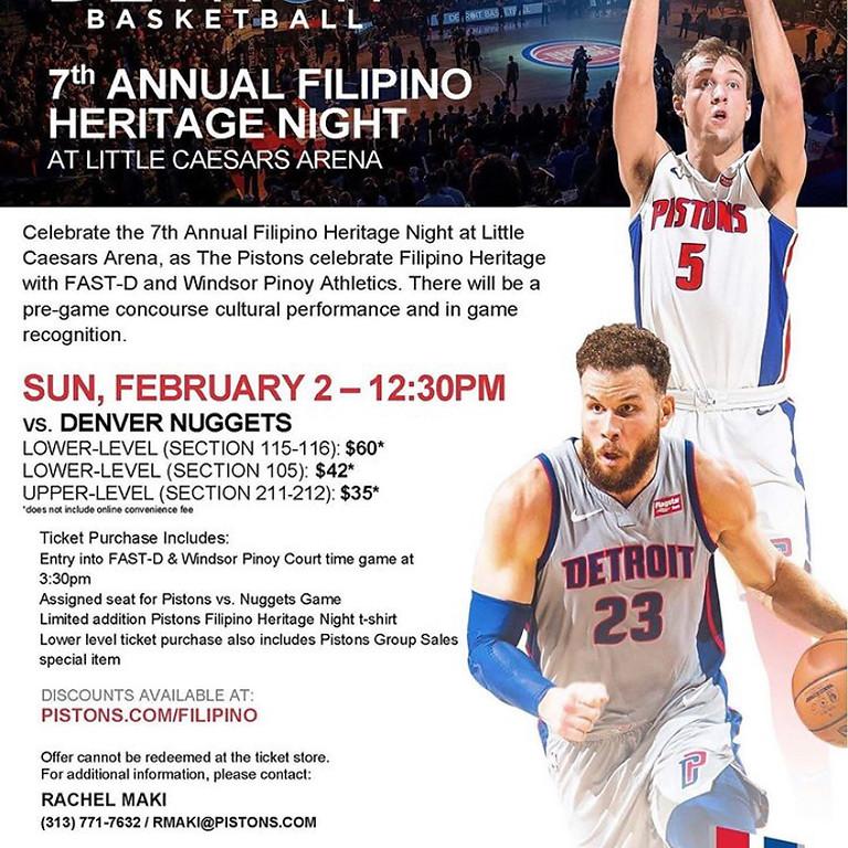 Pistons Filipino Heritage Day