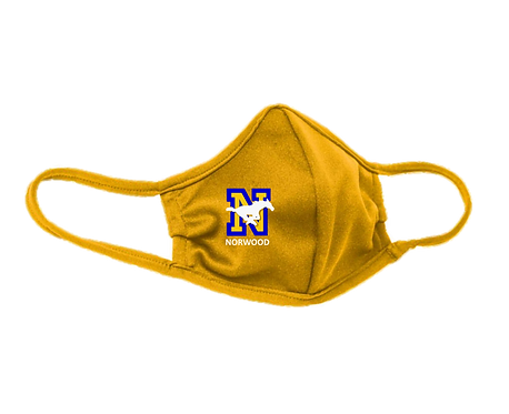 Youth & Adult Yellow/Gold Masks - 3-ply with Ear Adjusters