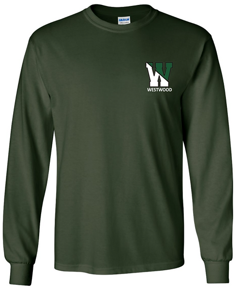 Youth & Adult - Forest Green - Long Sleeve T-Shirt - Ultra Cotton