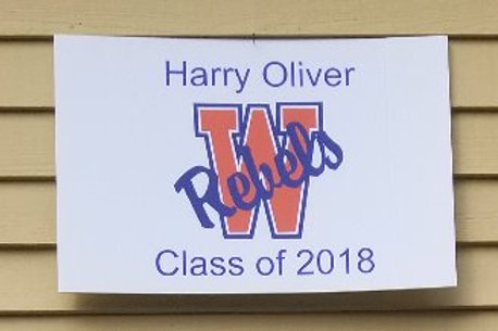"Class of 2018 Garage/Yard Sign - Customized - 18"" x 27"""