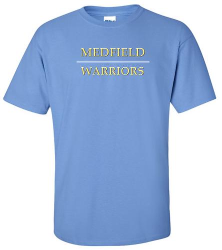 Youth & Adult - Warriors - Carolina Blue - Short Sleeve T-Shirt - Ultra Cotton