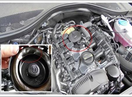 【技術通報】AUDI A6 (CDNB引擎) 2011~2017 2.0L,啟動困難、怠速不穩,PCV閥內膜破損