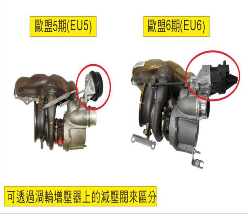歐盟五期與六期的N55引擎的辨別方式