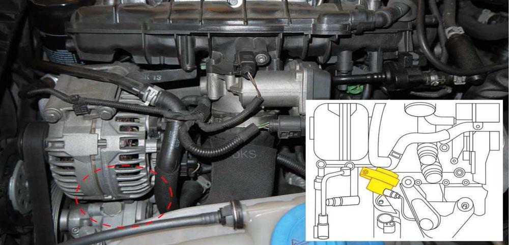 電子輔助冷卻泵浦位置 AUDI Q5 09-17 2.0L