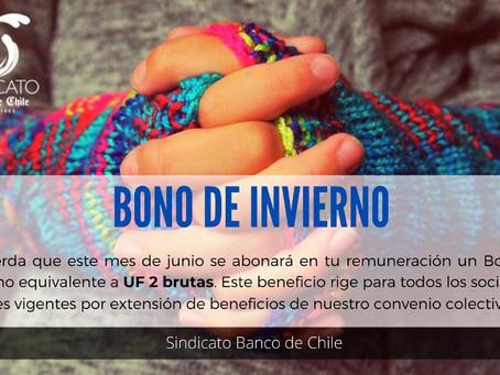 Bono de Invierno 2021: Este mes recibirás UF 2 en tu remuneración.
