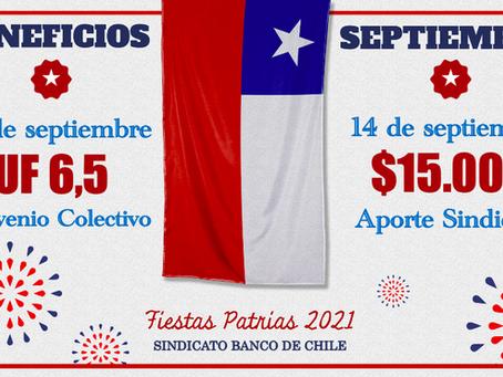 Beneficios Fiestas Patrias 2021 Sindicato Banco de Chile.-