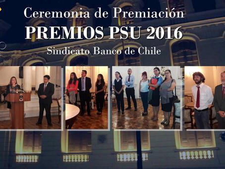Ceremonia de entrega premios PSU