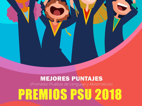 Premios mejores Puntajes Prueba PSU 2018 - Sindicato Banco de Chile.