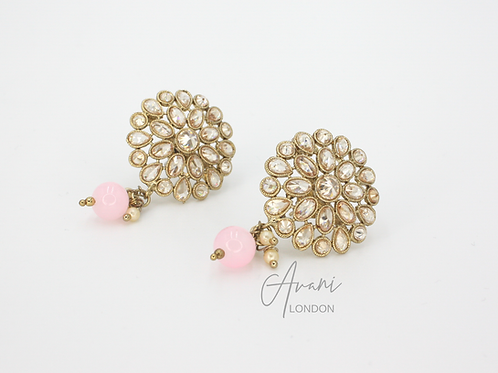 Leena Delicate Stud Earrings - Baby Pink