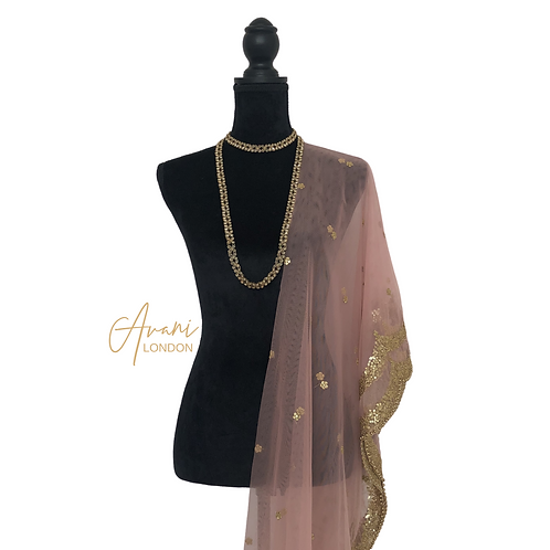 Soft Net Dupatta - Blush