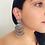 Thumbnail: Rhea Signature Oxidised Silver Earrings