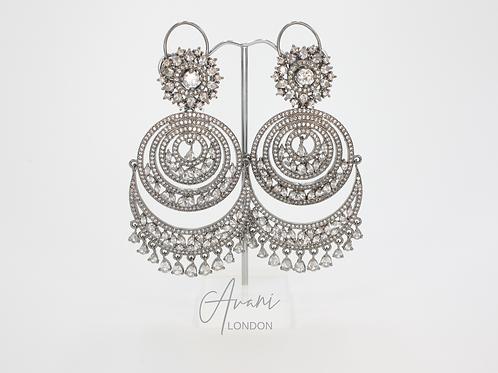 Rhea Signature Oxidised Silver Earrings