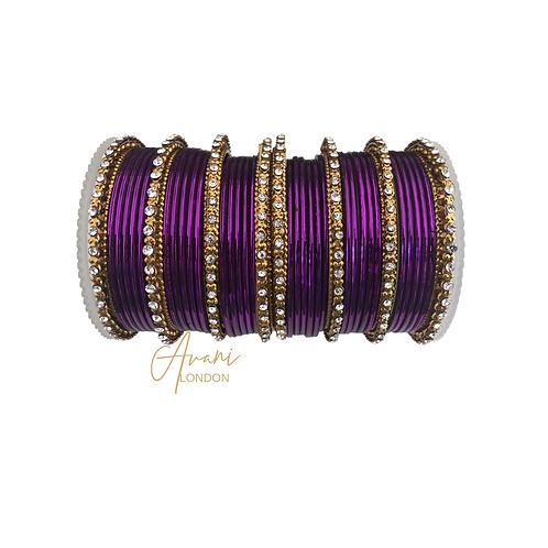 Metallic Bangles - Purple