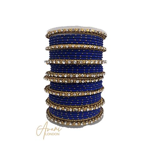Matte Glitter Bangles - Royal Blue