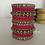 Thumbnail: Antique Accent Bangle Sets - Pink