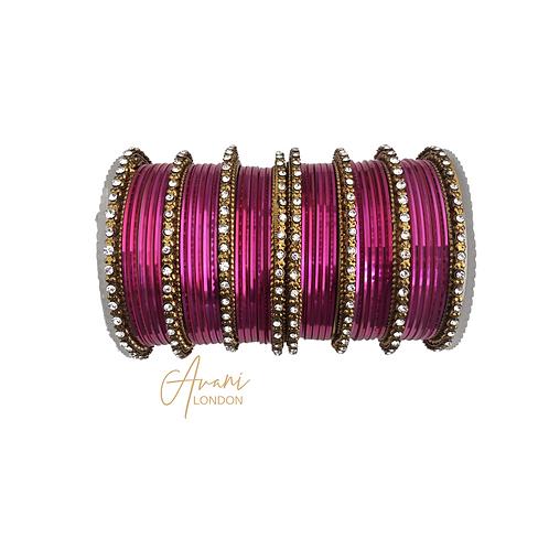 Metallic Bangles - Pink
