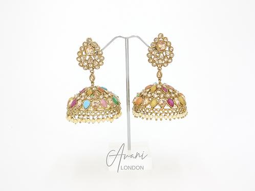 Simmi Multicoloured Jhumka Earrings