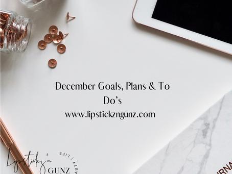 December;Goals, plans To-Do's