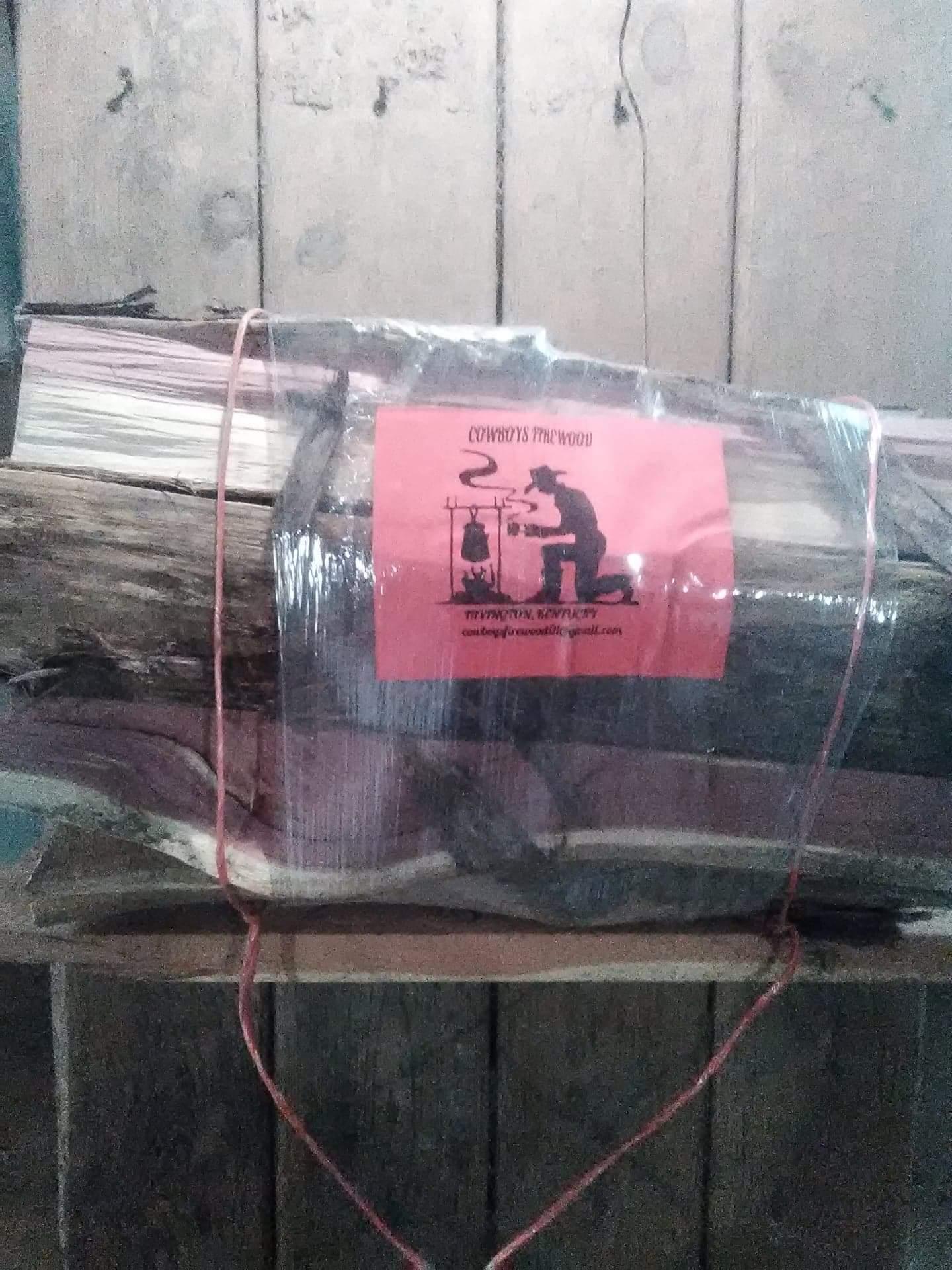 Cedar firewood bundles