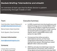 Telemedicine and eHealth