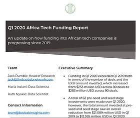 Q1 Funding 2020