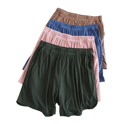 Plus Size Summer Modal Shorts Sleep Bottoms