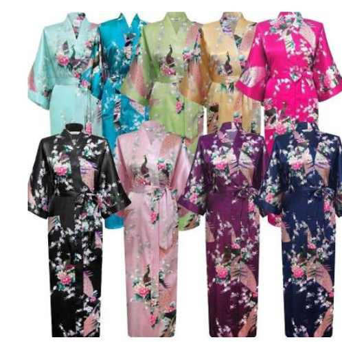 Plus Size Women Long Robe Print