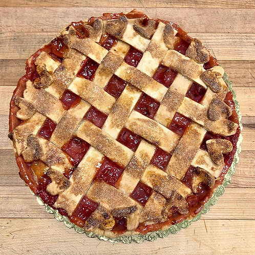 Gluten free Strawberry Rhubarb Pie (Thu & Fri delivery only)