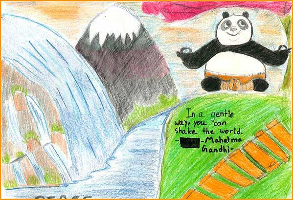Student drawing Panda Quote