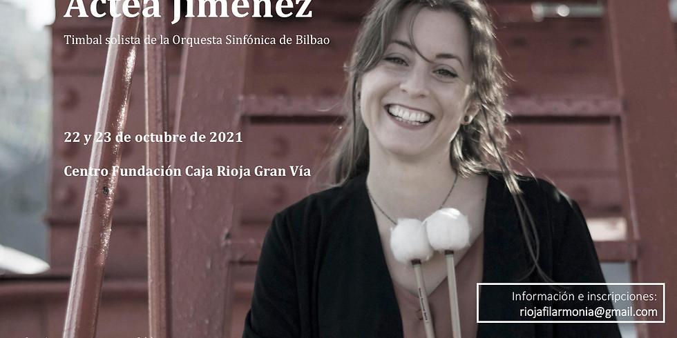 Encuentro con Actea Jiménez