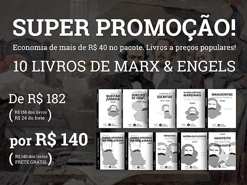 PROMOÇÃO: 10 livros de Marx-Engels