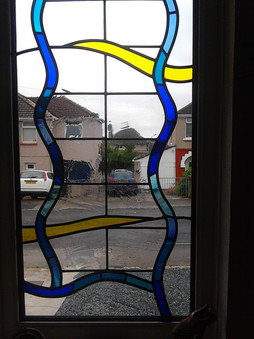 Contemporary patterned window.