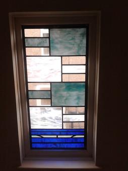 Contemporary hallway window.