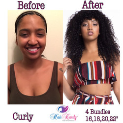 Curly Before 7 After Pic