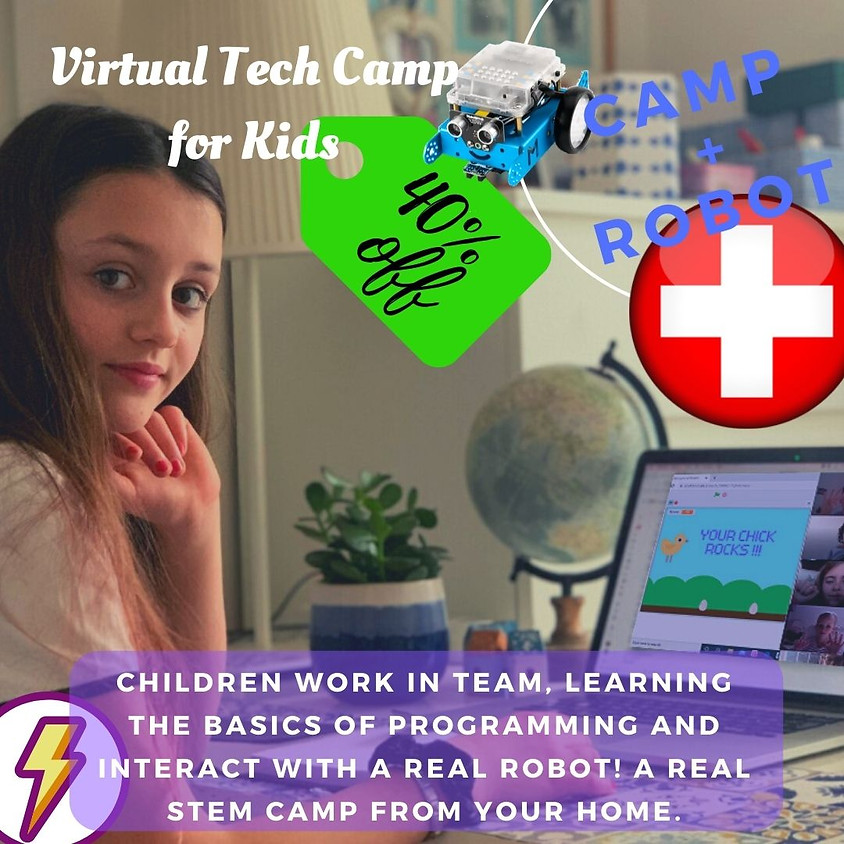 40% OFF - FLASH OFFER - ROBOTIC CAMP for kids Switzerland (Ticino).