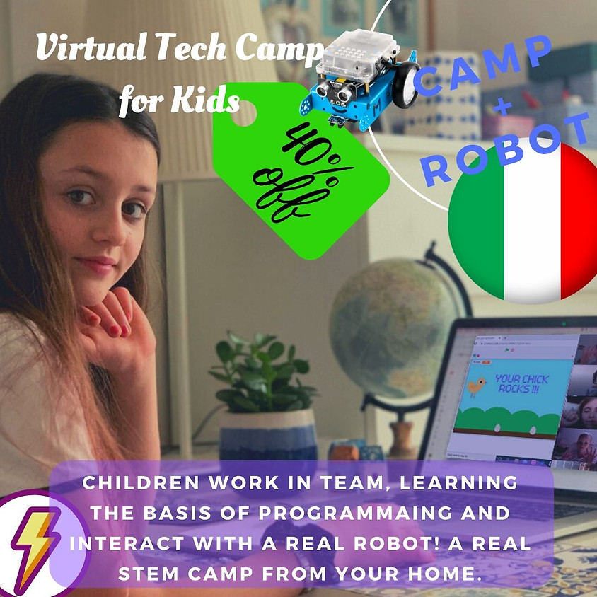 40% OFF - FLASH OFFER - ROBOTIC CAMP for kids Italy.