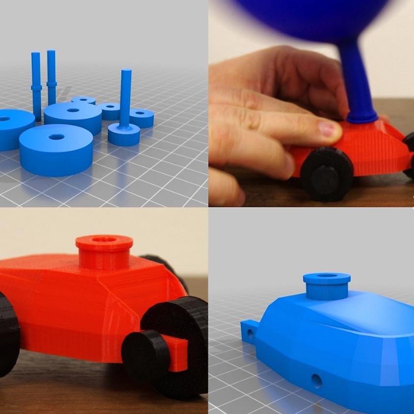 Inglese e Stampa 3D - Costruiamo a 3D Balloon Car | Easter Camp