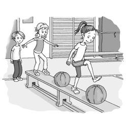 Schulbuch-Illustration