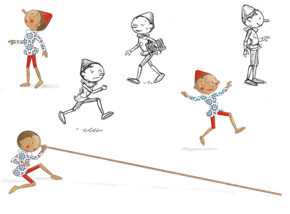 "Vignetten/Skizzen zu. C. Collodi, ""Pinocchio"