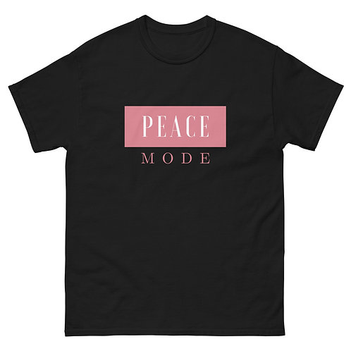 Peace Mode Tee- Blk & Rose Gold
