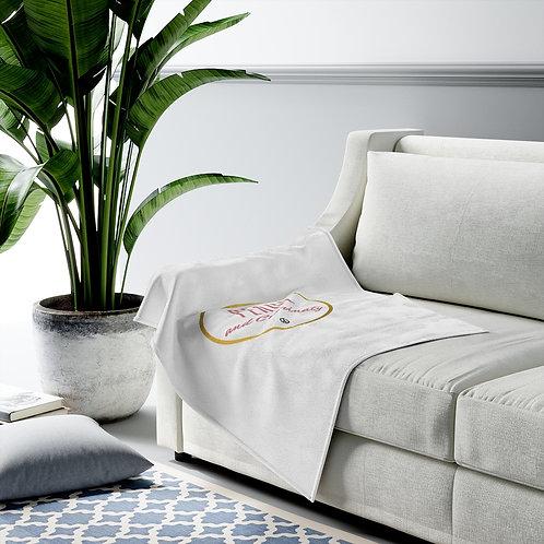 Peace and Czarinaty Velveteen Plush Blanket