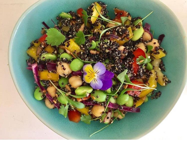 Quinoa Rainbow Salad with Turmeric