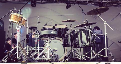 Drum set up-Festival Musica Contra el Olvido with Human Drama Mexico City, MX 8-6-18