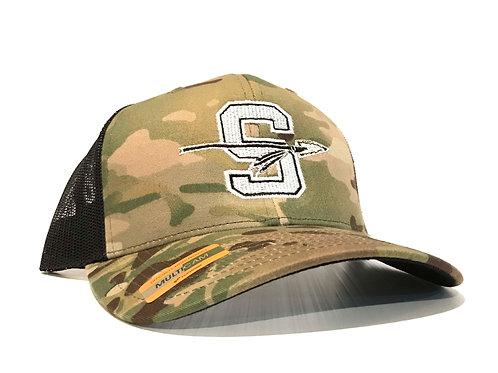 Camo Snapback Logo Hat