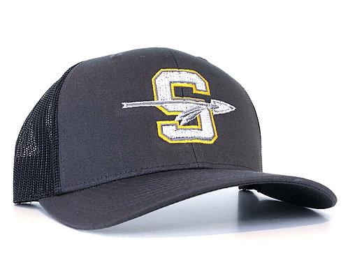 Dark Grey Snapback Logo Hat