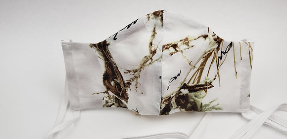 White Camouflage Face Mask